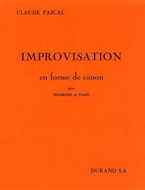 Claude Pascal: Improvisation En Forme De Canon