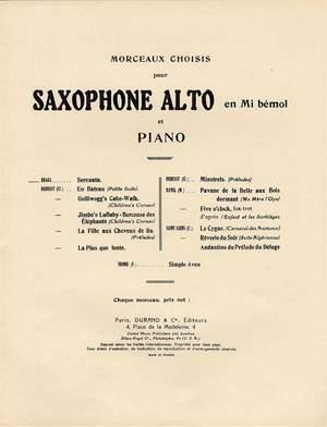 Gaetano Braga: Serenata Saxophone-Piano