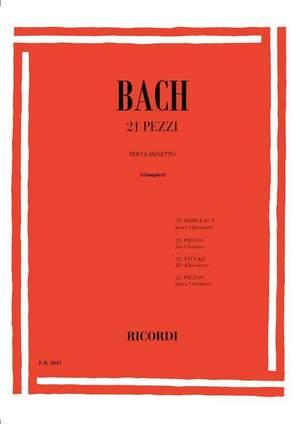 Johann Sebastian Bach: 21 Pieces For Clarinet Product Image