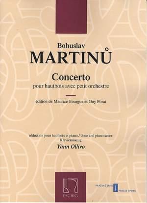 Bohuslav Martinu: Concerto Pour Hautbois Avec Petite Orchestre