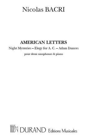 Bacri: American Letters Op.35b