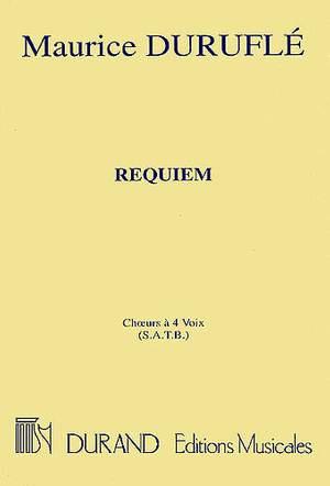 Maurice Duruflé: Requiem Opus 9 - Choral Score