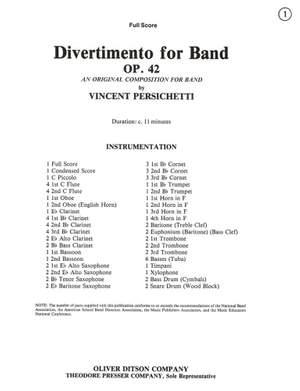 Vincent Persichetti: Divertimento for Band