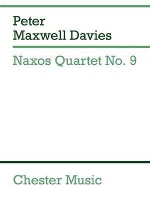 Peter Maxwell Davies: Naxos Quartet No.9 (Miniature Score)