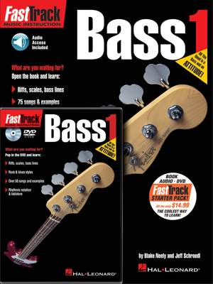 Jeff  Schroedl: FastTrack - Bass Guitar 1 Starter Pack