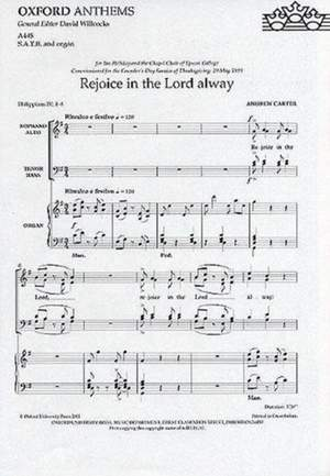 Anon: Rejoice in the Lord alway