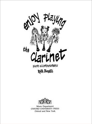 Bonetti: Enjoy Playing the Clarinet Piano Accompaniments