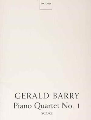 Barry: Piano Quartet No. 1