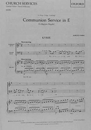 Darke: Communion Service in E (Collegium Regale)