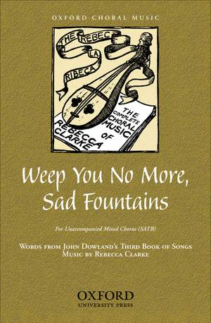 Clarke: Weep you no more, sad fountains