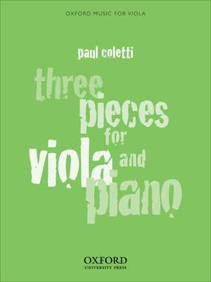 Coletti: Three Pieces for Viola and Piano
