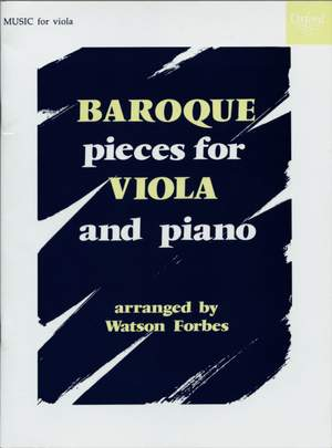 Forbes, Watson: Baroque Pieces for Viola and Piano