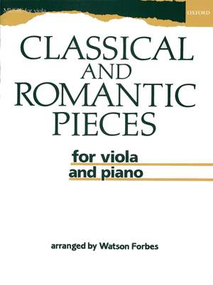 Forbes, Watson: Classical and Romantic Pieces for Viola