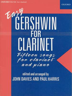 Gershwin, George: Easy Gershwin for clarinet
