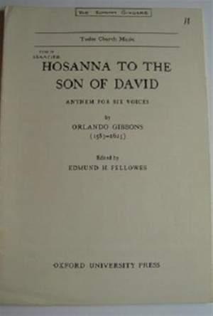 Gibbons: Hosanna to the Son of David