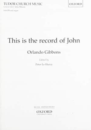 Gibbons: This is the record of John