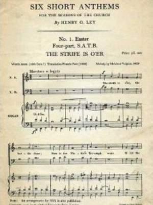Ley: The strife is o'er
