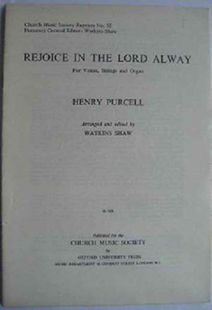 Purcell: Rejoice in the Lord alway