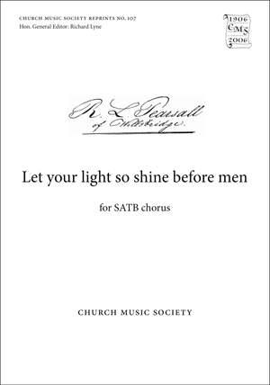 Pearsall: Let your light so shine before men