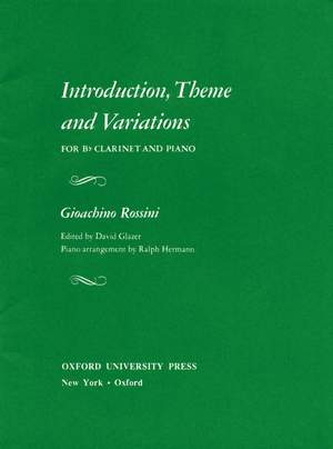Rossini: Introduction, Theme, and Variations