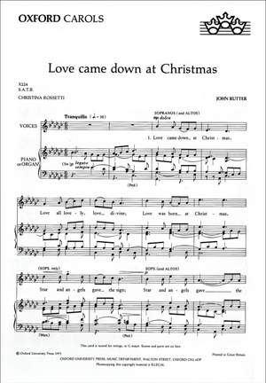 Rutter: Love came down at Christmas