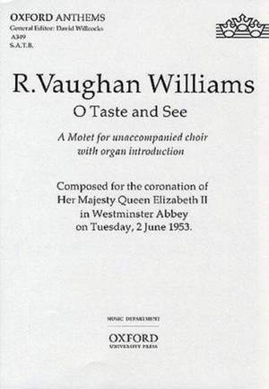 Vaughan Williams: O taste and see