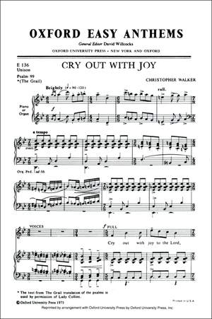 Walker: Cry out with joy