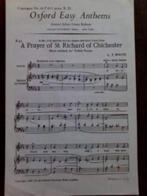 White: A Prayer of St Richard of Chichester