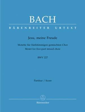 Bach, JS: Motet No.3: Jesu, meine Freude (BWV 227) (Urtext) Product Image