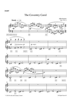 Giles Swayne: The Coventry Carol (Harp Part)