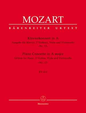 Mozart, WA: Concerto for Piano No.12 in A (K.414) (Urtext)