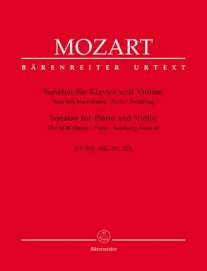Mozart, WA: Sonatas for Violin and Piano, Vol. 1: Mannheim, Paris, Salzburg. (K.296, 301-306, 378) (Urtext)