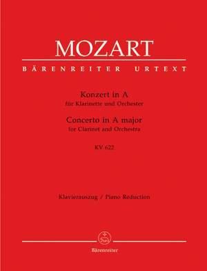 Mozart, WA: Concerto for Clarinet (Basset Clarinet) in A (K.622) (Urtext)