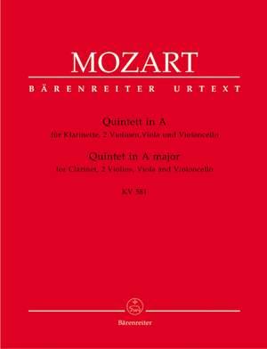 Mozart, WA: Clarinet Quintet in A (K.581) (Urtext)