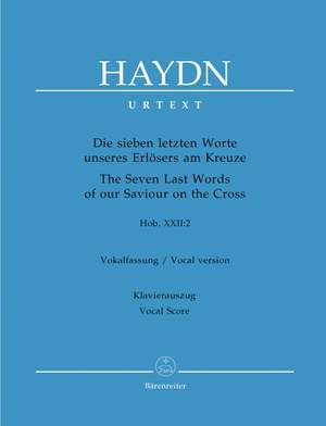 Haydn, FJ: Seven Last Words of Our Saviour on the Cross (Hob.XX:2) (Urtext). (Choral version) (G)