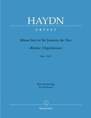 Haydn, FJ: Missa brevis St. Joannis de Deo (Little Organ Mass) (Hob.XXII:7) (Urtext) (L) Product Image