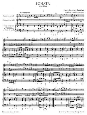 Loeillet, J: Trio Sonata in G, Op.2/12 Product Image