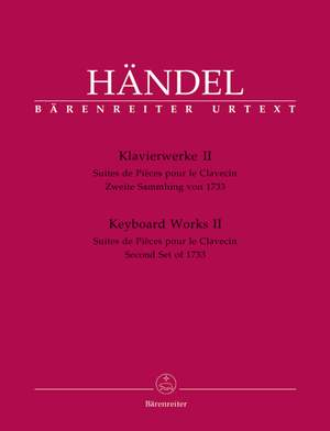 Handel, GF: Piano Works, Vol. 2: Second Set of 1733 (HWV 434-442) (Urtext)