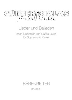 Bialas, G: Songs and Ballads after F. Garcia Lorca