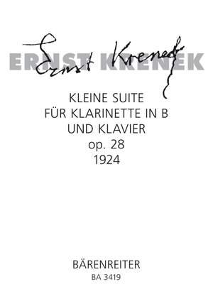 Krenek, E: Little Suite, Op.28 (1924)