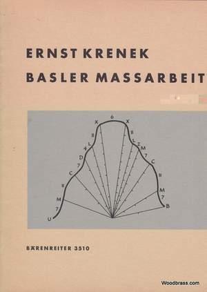 Krenek, E: Basler Massarbeit (1960)