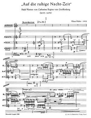 Huber, K: Auf die ruhige Nachtzeit (1958) (G)