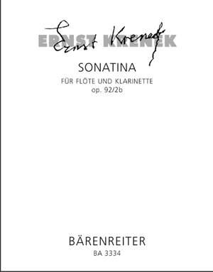 Krenek, E: Sonatina, Op.92/ 2b