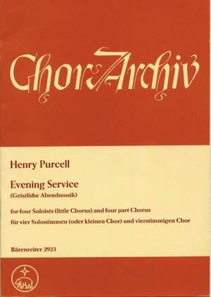 Purcell, H: Evening Service (Magnificat/Nunc dimittis) (E-G) Product Image