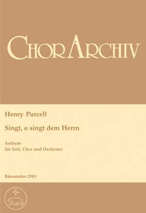 Purcell, H: O Sing unto the Lord (E-G) Product Image