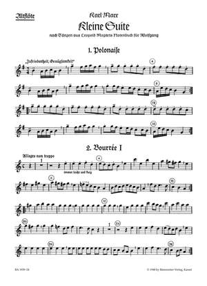 Marx, K: Little Suite on Dances from L. Mozart's Notebook for Wolfgang