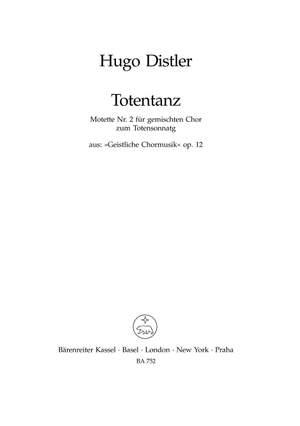 Distler, H: Totentanz, Op.12/2 (G)