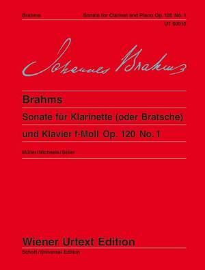 Brahms, J: Sonata F minor op. 120/1