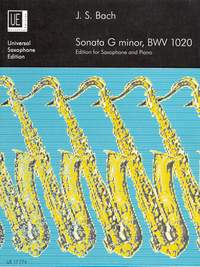 Bach, JS: Sonata in G minor BWV1020 (saxophone/piano)
