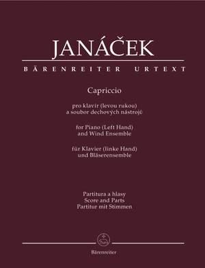 Janacek, L: Capriccio for Piano (Left Hand) and Wind Ensemble (Urtext)
